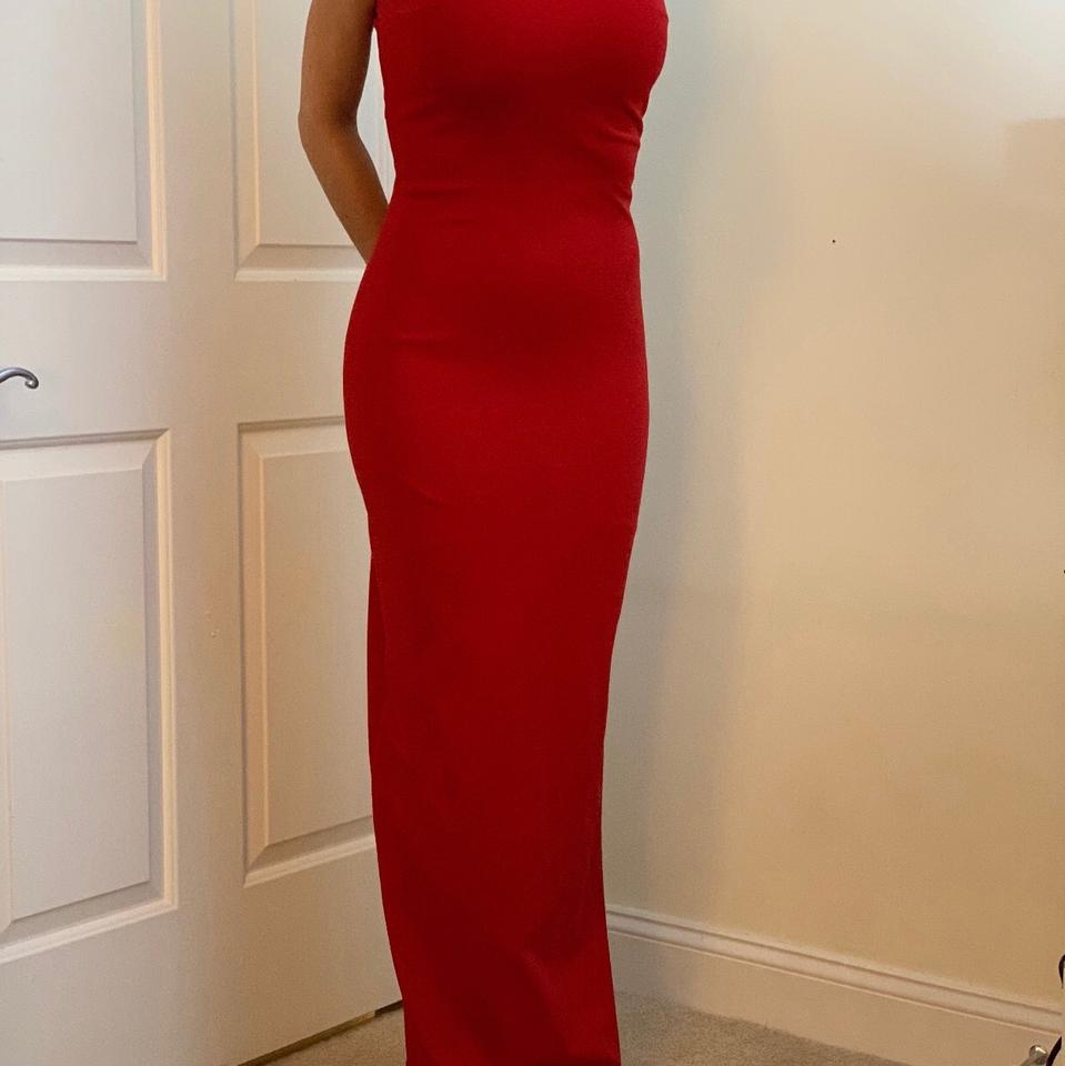 Versus Versace Red Evening Gown Long Formal Dress Size 4 (S) - Tradesy