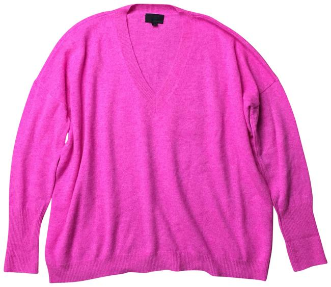 Preload https://img-static.tradesy.com/item/24148619/jcrew-italian-cashmere-v-neck-boyfriend-pink-sweater-0-1-650-650.jpg