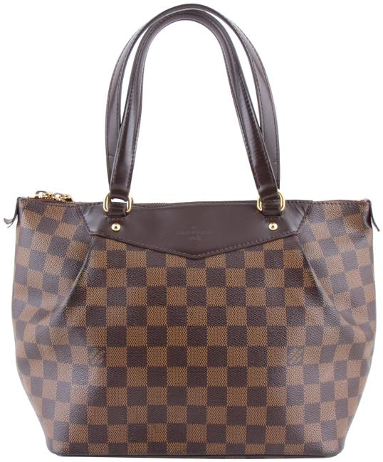 Louis Vuitton Westminster Damier Ebene Pm Brown Coated Canvas Shoulder Bag Louis Vuitton Westminster Damier Ebene Pm Brown Coated Canvas Shoulder Bag Image 1