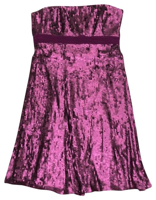Item - Fuchsia/ Purple Strapless Sequin Party Short Night Out Dress Size 6 (S)