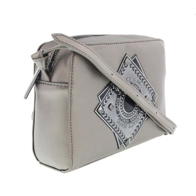 Versace Jeans Collection Shopper/Tote Grey Faux Leather Tote Versace Jeans Collection Shopper/Tote Grey Faux Leather Tote Image 1