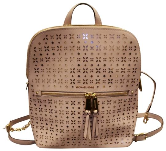Preload https://img-static.tradesy.com/item/24148651/michael-kors-rhea-flower-perforated-pink-saffiano-leather-backpack-0-3-540-540.jpg