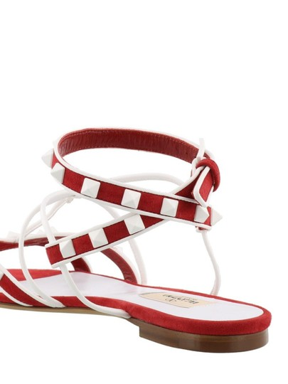 Valentino Slides Flat Chain Gladiator red Sandals