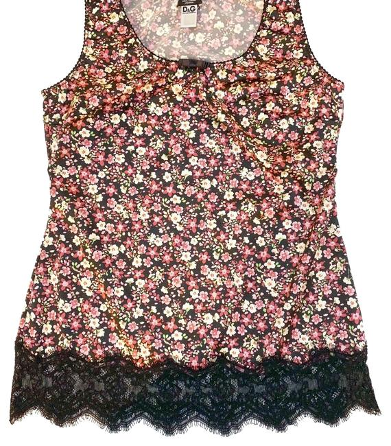 Preload https://img-static.tradesy.com/item/24148747/dolce-and-gabbana-floral-lace-trim-tank-topcami-size-2-xs-0-3-650-650.jpg