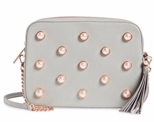 840d8a796c0 Ted Baker Alessia Top Zip Closure Stud Detail Embellished Faux Pearl Cross  Body Bag
