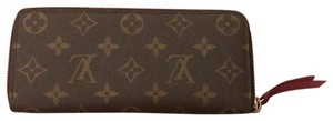 Louis Vuitton Brown with pink zipper and interior Clutch
