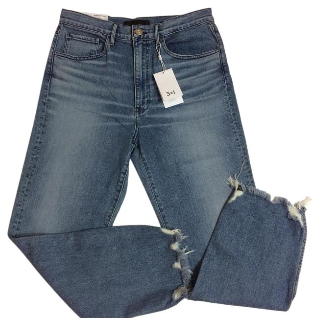 Item - Florian Blue Medium Wash W4 High Rise Relaxed Crop Capri/Cropped Jeans Size 28 (4, S)