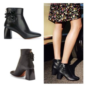 1fc150376384 Tory Burch Black New In Box Blossom Leather Floral Heeled Ankle Boots  Booties.  266.55  450.00. US 7