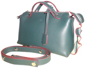 Fendi By The Way Satchel in Green/Red