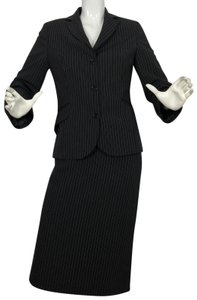 United Colors of Benetton United Colors of Benetton Skirt Suit Pinstripes Career Business Women