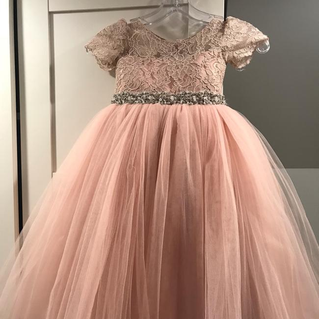 Item - Rose Lace/ Tulle Flowergirl Fg133cap In Formal Bridesmaid/Mob Dress Size 2 (XS)