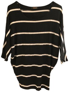 Renee C. Top Black striped