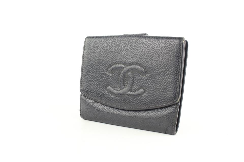 f210e1f5657 Chanel Black Caviar CC Logo Square Compact Change Purse Wallet 6cz1005  Image 11. 123456789101112