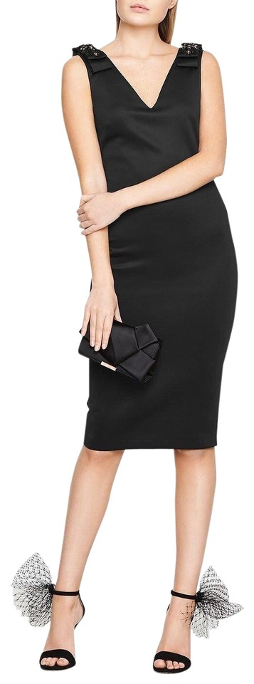 882b84cd1c9 Ted Baker Black London Belliah Bow Shoulder Bodycon Mid-length ...