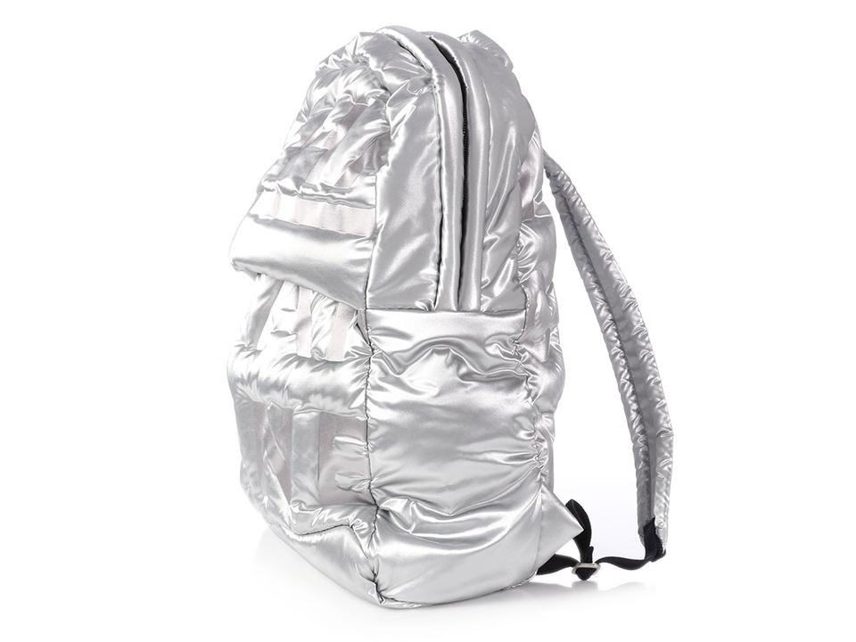 6dcac3231a54 Chanel Large Doudoune Silver Nylon Backpack - Tradesy