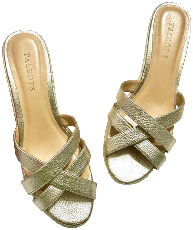 483a12f7876 Talbots Gold Espadrilles Wedges. Size  US 8 Regular (M ...
