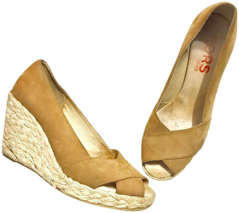 daf995b1d42 Tan Peep Toe Espadrilles Sz7 Wedges Size US 7 Regular (M