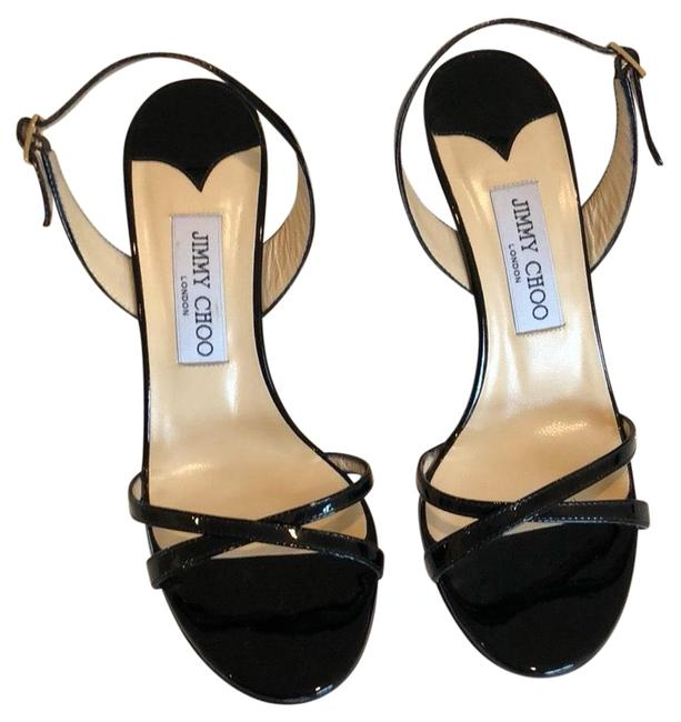 Item - Black Classic India Sandals Mirrored Leather Formal Shoes Size US 8 Narrow (Aa, N)