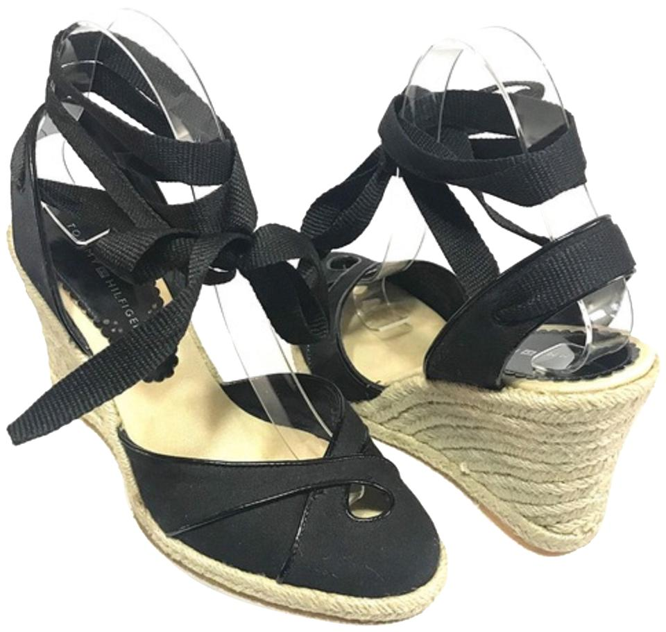 bb71d9eb63cc Tommy Hilfiger Black Women s Espadrilles Wedges. Size  US 7.5 Regular ...
