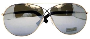 Tom Ford Aviator Unisex Sunglasses Metal Frame with Gray Mirrored Lens