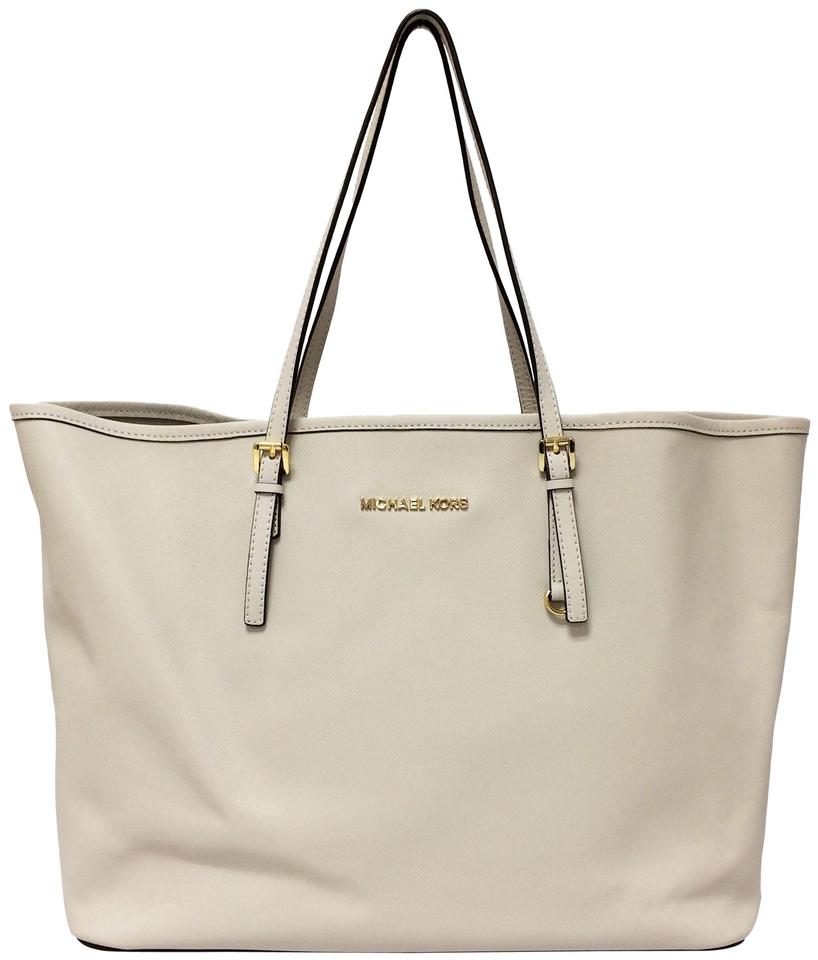 fa3feda6577d7b MICHAEL Michael Kors Bag By Jet Set Travel Vanilla Saffiano Leather Tote
