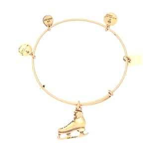 Alex and Ani NWT Alex & Ani Gold Ice Skating Bangle Bracelet SOLD OUT and retired!