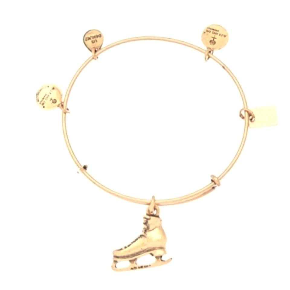 Alex And Ani Nwt Gold Ice Skating Bangle Bracelet Sold Out Retired