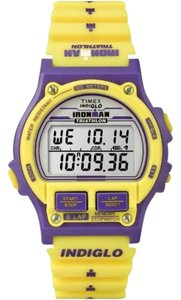 Timex T5K840 Ironman Unisex Yellow Resin Band With Grey Digital Dial Watch
