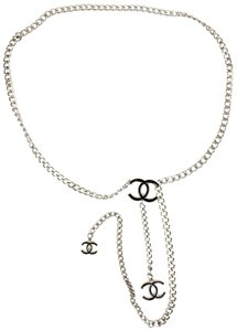 "Chanel Metal Chain & ""CC"" Logo - fits up to 35"" (mo) Necklace /"