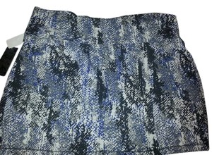 Forever 21 Plus-size 3x Mini Skirt black blue snake