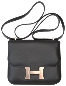 Hermès Leather Gold Hardware Constance Mini Constance Cross Body Bag