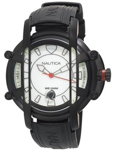 Nautica N27507X Men's Black Resin Band With White Analog Dial Watch