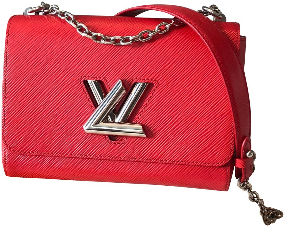 2746f2fba69a Louis Vuitton Twist Mm Chain Red Epi Leather Shoulder Bag - Tradesy
