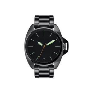 Nixon A396-1418 Men's Black Steel Bracelet With Black Analog Dial Watch