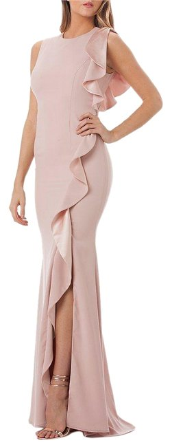 Item - Blush Infusion Ruffle Slit Gown Long Formal Dress Size 8 (M)