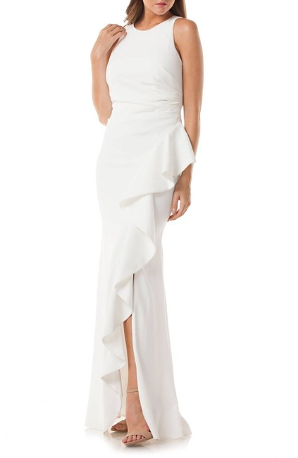 Item - Ivory Infusion Cutaway Cascade Gown Long Formal Dress Size 6 (S)