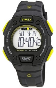 Timex TW5K86100 Ironman Men's Black Rubber Band With Digital Dial Watch