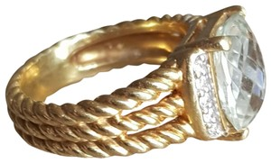 David Yurman David Yurman Wheaton 18k Gold Prasiolite Diamond Ring