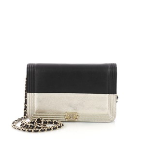Chanel Wallet On black Clutch