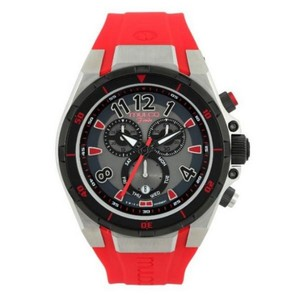 Mulco MW181197065 Women's Red Silicone Band With Grey Analog Dial Watch