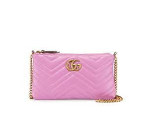 Gucci Marmont Chain Wallet Matelasse Quilted Cross Body Bag