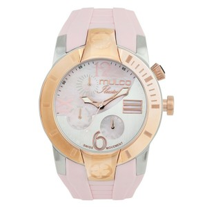 Mulco MW51877813 Women's Pink Silicone Band With White Analog Dial Watch