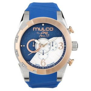 Mulco MW54067043 Unisex Blue Silicone Band With Blue Analog Dial Watch