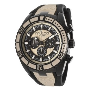 Mulco MW51836115 Men's Black Silicone Band With Two Tone Analog Dial Watch