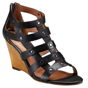 Corso Como Leather Sandal Studded Night Out Black Wedges