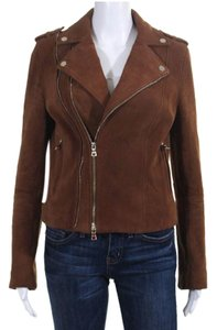 INTERMIX Brown Leather Jacket