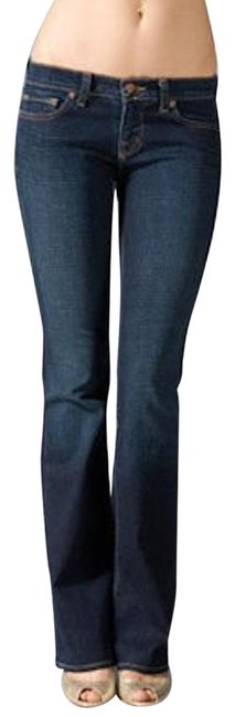 Item - Dark Blue Rinse 918 In Vintage Wash Boot Cut Jeans Size 27 (4, S)