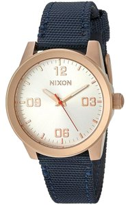 Nixon A9642160 Women's Blue Nylon Band With White Analog Dial Watch