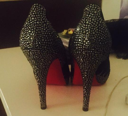 Christian Louboutin Black, Silver Pumps Image 1
