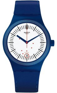 Swatch SUTN401 Unisex Blue Rubber Band With White Analog Dial Watch